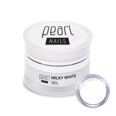 Pearl Nails Milky White Gel tejes fehér zselé